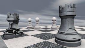 Ένα κοράκι σε μια σκακιέρα συντρίβει Στοκ φωτογραφία με δικαίωμα ελεύθερης χρήσης