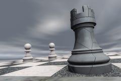 Ένα κοράκι σε μια σκακιέρα συντρίβει Στοκ Εικόνες