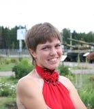 Ένα κορίτσι και δεξαμενές Στοκ εικόνα με δικαίωμα ελεύθερης χρήσης