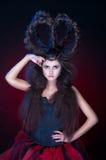 Ένα κορίτσι με μια κορώνα του τριχώματος Στοκ Εικόνα