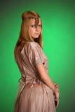 Ένα κορίτσι στο ανατολικό φόρεμα Στοκ Εικόνα