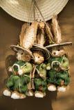 Ένα κουνέλι καπέλων και κινούμενων σχεδίων αχύρου Στοκ φωτογραφία με δικαίωμα ελεύθερης χρήσης