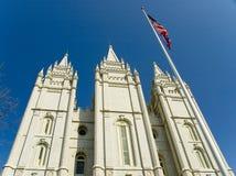 Ένα κτήριο στο ναό τετραγωνική Σωλτ Λέικ Σίτυ Γιούτα στοκ φωτογραφία