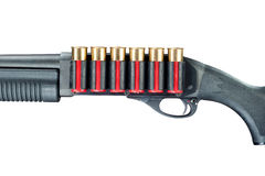 Κυνηγετικό όπλο στο λευκό Στοκ φωτογραφία με δικαίωμα ελεύθερης χρήσης