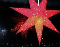 Ένα κόκκινο αστέρι εμφάνισης στοκ φωτογραφίες