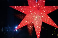 Ένα κόκκινο αστέρι εμφάνισης στοκ εικόνα με δικαίωμα ελεύθερης χρήσης