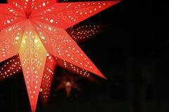 Ένα κόκκινο αστέρι εμφάνισης στοκ φωτογραφίες με δικαίωμα ελεύθερης χρήσης