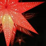Ένα κόκκινο αστέρι εμφάνισης στοκ εικόνες