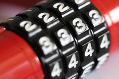 Ένα κόκκινο ντουλάπι αριθμού απομονώνει Στοκ εικόνα με δικαίωμα ελεύθερης χρήσης