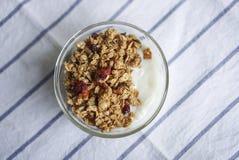 Ένα κύπελλο του μικτού granola μούρων στοκ εικόνα