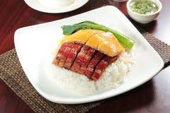 Ένα κύπελλο του ρυζιού με το κρέας στοκ φωτογραφίες