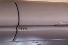 Ένα κλειστό τοπ διαμέρισμα σε ένα αεροπλάνο Στοκ φωτογραφίες με δικαίωμα ελεύθερης χρήσης