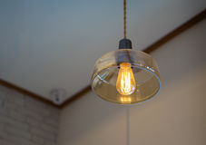 Ένα λάμπα φωτός και bokeh φως Στοκ φωτογραφία με δικαίωμα ελεύθερης χρήσης