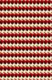 Ένα λαμπρό σχέδιο έκανε από τα κόκκινα ορθογώνια κλίσης και τα άσπρα τρίγωνα διανυσματική απεικόνιση