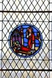 Ένα λεκιασμένο γυαλί που διακοσμείται σε μια εκκλησία σε Rocamadour, Γαλλία στοκ φωτογραφίες