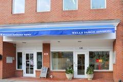 Ένα λιανικό υποκατάστημα τράπεζας Fargo φρεατίων στοκ εικόνες με δικαίωμα ελεύθερης χρήσης