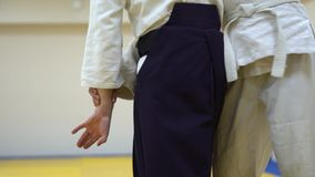 Ένα μάθημα σε Aikido απόθεμα βίντεο