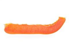 Ένα μέρος κίτρινο papaya στο άσπρο υπόβαθρο Στοκ φωτογραφία με δικαίωμα ελεύθερης χρήσης