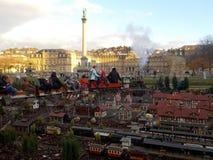 Ένα μίνι τραίνο διασκέδασης στις καταπληκτικές αγορές Χριστουγέννων της Στουτγάρδης, Γερμανία στοκ φωτογραφία με δικαίωμα ελεύθερης χρήσης