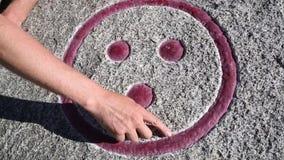 Ένα μαγικό σύμβολο σε μια πέτρα απόθεμα βίντεο