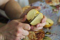 Ένα μαχαίρι και η Apple Στοκ φωτογραφία με δικαίωμα ελεύθερης χρήσης