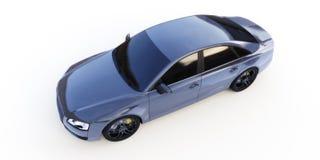 Ένα μαύρο αυτοκίνητο διανυσματική απεικόνιση