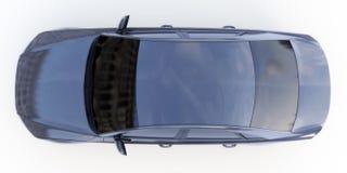 Ένα μαύρο αυτοκίνητο απεικόνιση αποθεμάτων