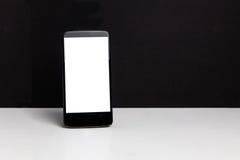 Ένα μαύρο κινητό τηλέφωνο Στοκ Εικόνες