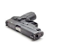Ένα μαύρο πιστόλι στο λευκό Στοκ Εικόνα