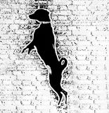 Ένα μαύρο σκυλί Στοκ εικόνα με δικαίωμα ελεύθερης χρήσης