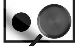 Ένα μαύρο τηγανίζοντας τηγάνι Στοκ φωτογραφία με δικαίωμα ελεύθερης χρήσης