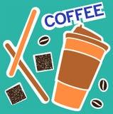 Ένα μεγάλο γυαλί χαρτονιού με τον καφέ Ελαφρύ καφετί καπάκι φλυτζανιών Στοκ εικόνα με δικαίωμα ελεύθερης χρήσης