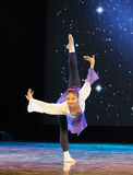 Ένα μεγάλο γεράκι διαδίδει το φτερό-βασικό εκπαιδευτικό μάθημα χορού του Στοκ Εικόνα