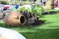 Ένα μεγάλο δοχείο σε έναν κήπο Στοκ Φωτογραφίες