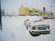 Ένα μεγάλο χιόνι στην Ιταλία Στοκ Εικόνα