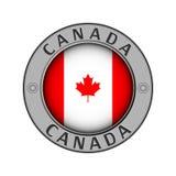 Ένα μενταγιόν με το όνομα της χώρας Καναδάς και στρογγυλεύει το ΛΦ ελεύθερη απεικόνιση δικαιώματος