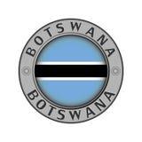 Ένα μενταγιόν με το όνομα της χώρας Μποτσουάνα και του circul ελεύθερη απεικόνιση δικαιώματος