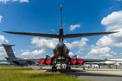 Ένα με τέσσερις μηχανές υπερηχητικό φτερό μεταβλητός-σκουπισμάτων, αεριωθούμενος-τροφοδοτημένος βαρύς στρατηγικός Rockwell β-1b β Στοκ εικόνες με δικαίωμα ελεύθερης χρήσης