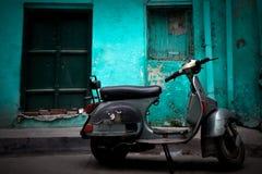 Ένα μηχανικό δίκυκλο Vespa Amritsar, Punjab, Ινδία στοκ εικόνες με δικαίωμα ελεύθερης χρήσης