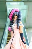 Ένα μη αναγνωρισμένο ιαπωνικό anime cosplay θέτει στην Ιαπωνία Festa στη Μπανγκόκ το 2013. Στοκ εικόνες με δικαίωμα ελεύθερης χρήσης