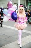 Ένα μη αναγνωρισμένο ιαπωνικό anime cosplay θέτει στην Ιαπωνία Festa στη Μπανγκόκ το 2013 Στοκ Εικόνες