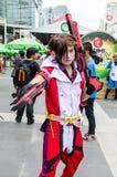 Ένα μη αναγνωρισμένο ιαπωνικό anime cosplay θέτει στον κόσμο Cosplay φανταστικά 7 Oishi Στοκ Εικόνες