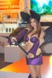 Ένα μη αναγνωρισμένο ιαπωνικό anime cosplay θέτει στο παιχνίδι της Ταϊλάνδης παρουσιάζει ΜΕΓΑΛΟ φεστιβάλ το 2013 Στοκ φωτογραφίες με δικαίωμα ελεύθερης χρήσης
