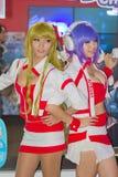 Ένα μη αναγνωρισμένο ιαπωνικό anime cosplay θέτει στο παιχνίδι της Ταϊλάνδης παρουσιάζει ΜΕΓΑΛΟ φεστιβάλ το 2013 Στοκ εικόνα με δικαίωμα ελεύθερης χρήσης
