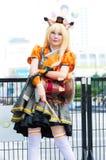 Ένα μη αναγνωρισμένο ιαπωνικό anime cosplay θέτει Στοκ Εικόνες