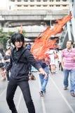 Ένα μη αναγνωρισμένο ιαπωνικό anime cosplay στον κεντρικό κόσμο σε Thail Στοκ Εικόνες