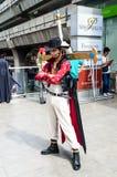 Ένα μη αναγνωρισμένο ιαπωνικό anime cosplay. Στοκ φωτογραφίες με δικαίωμα ελεύθερης χρήσης