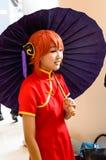 Ένα μη αναγνωρισμένο ιαπωνικό anime cosplay. Στοκ Φωτογραφίες