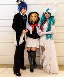 Ένα μη αναγνωρισμένο ιαπωνικό anime cosplay. Στοκ εικόνα με δικαίωμα ελεύθερης χρήσης