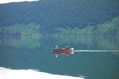 Ένα μικρό αλιευτικό σκάφος στον Καναδά Στοκ Εικόνες